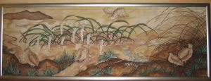 Painting ''Landscape with quails''