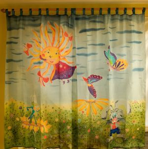 Curtains in kids room