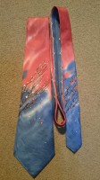 Bright Red and Blue Designer Tie