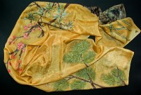 Unique, hand painted, hand made, silk panel, silk scarf, silk decoration