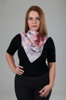 Unique hand painted silk Ponge scarf ''Lily''