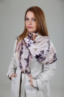 Unique hand painted silk Ponge scarf ''Earth tones''